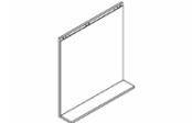 Lumibloc Miroir Tablette 70 cm, rampe d'éclairage au choix