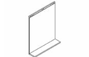 Lumibloc Miroir Tablette 60 cm, rampe d'éclairage au choix