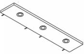 Rampe éclairage 3 spots LED 105 cm