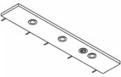 Rampe éclairage 3 spots LED + prise  120 cm