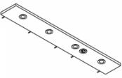 Rampe éclairage 4 spots LED + prise  140 cm