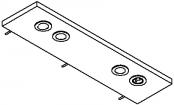 Rampe éclairage 2 spots LED + prise + interrupteur 90 cm