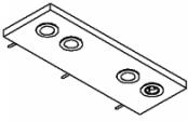 Rampe éclairage 2 spots LED + prise + interrupteur 60 cm