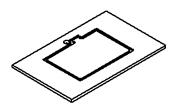 PREFIXE CODE PMR Plan stratifié 80 cm avec découpe centrale pour vasque à encastrer