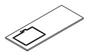 PREFIXE CODE PMR Plan stratifié 130 cm avec découpe à gauche pour vasque à encastrer