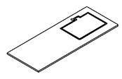 PREFIXE CODE PMR Plan stratifié 130 cm avec découpe à droite pour vasque à encastrer