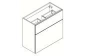 BROOKLYN Fit Line Meuble sous-plan de toilette 80 cm