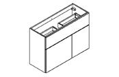 BROOKLYN Fit Line Meuble sous-plan de toilette 100 cm