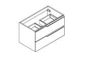 MATRICE - Meuble sous plan de toilette 80 cm