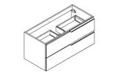 MATRICE - Meuble sous plan de toilette 100 cm