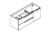 MATRICE - Meuble sous plan de toilette 120 cm