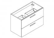 PREFIXE CODE PORTES Meuble sous-plan toilette 90 cm