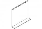 Lumibloc Miroir Tablette 90 cm, rampe d'éclairage au choix