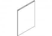 Lumibloc Miroir crédence 90 cm, rampe d'éclairage au choix
