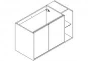 NEWPORT Meuble sous-plan de toilette avec système push-pull - 2 portes et 1 niche - 100 cm