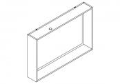 NEWPORT Miroir cadre éclairant 100 cm avec étagère