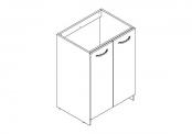 EKO'LINE A POSER Meuble sous-plan de toilette - 60 cm - Portes