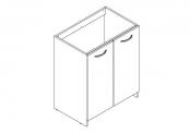 EKO'LINE A POSER Meuble sous-plan de toilette - 70 cm - Portes