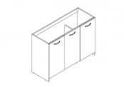 EKO'LINE A POSER Meuble sous-plan de toilette - 120 cm - Portes