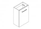 MALTO Meuble sous-plan de toilette - 40 cm