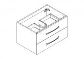 MIDWAY Meuble sous-plan de toilette - 80 cm