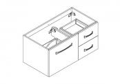 MIDWAY Meuble sous-plan de toilette - 100 cm