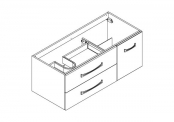 MIDWAY Meuble sous-plan de toilette - 120 cm
