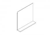 Miroir déco + tablette - 60 cm