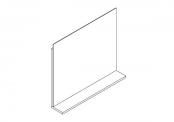 Miroir déco + tablette - 70 cm