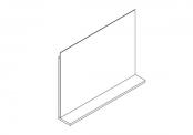 Miroir déco + tablette - 80 cm