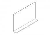 Miroir déco + tablette - 90 cm