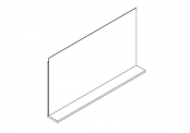 Miroir déco + tablette - 105 cm