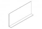 Miroir déco + tablette - 120 cm