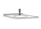 PREFIXE CODE Découpe du plan stratifié pour vasque à encaster