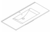 Plan de toilette C'RAM 105 cm