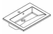 Plan de toilette PRISM polybéton 60 cm