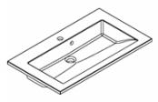 Plan de toilette PRISM polybéton 80 cm