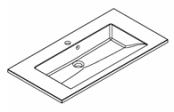 Plan de toilette PRISM polybéton 90 cm