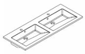 Plan de toilette PRISM polybéton 120 cm