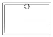 Receveur rectangulaire Préfixe - Bonde centrée