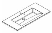Plan de toilette PRISM polybéton 100 cm