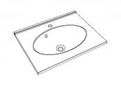 Plan de toilette CUP - 60 cm