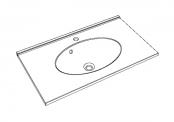 Plan de toilette CUP - 80 cm