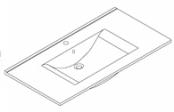 Plan de toilette C'RAM 100 cm