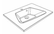 Plan de toilette DONA 60 cm