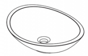 Vasque à poser ovale
