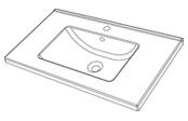 Plan de toilette GLAM 80 cm