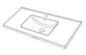 Plan de toilette GLAM 100 cm