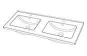 Plan de toilette GLAM 120 cm
