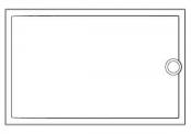 Receveur rectangulaire Préfixe - Bonde en-tête